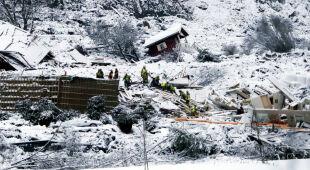 Trwa akcja ratunkowa po osunięciu ziemi w Norwegii