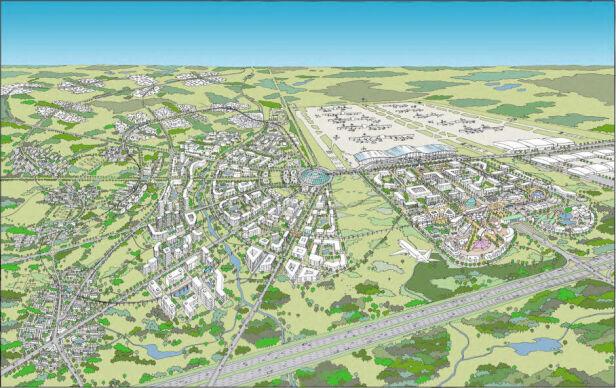 Firma Benoy zaproponowała zbudowanie Airport City Centralny Port Komunikacyjny
