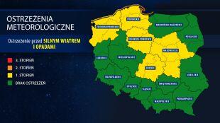 Alarm. Sztorm na Bałtyku, wichury w innych częściach kraju, ulewy